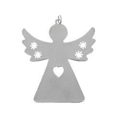 Rg 21 Lucky Charm Angel col. Nickel   - Rg 21 Γούρι Άγγελος χρ. Νίκελ