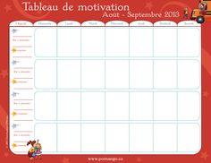 Tableau de motivation: pour aider vos enfants à devenir grand et à les motiver à effectuer les tâches quotidienne ou l'amélioration d'un comportement inapproprié.