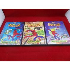 Lot Of 3 The Spectacular Spider Man DVD's Marvel Volumes 1-3 Episodes 1-9  #Marvel #SpiderMan #Animated #DVD #Lot #TVShow #eBid