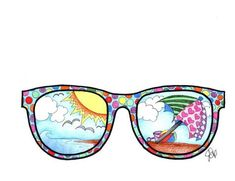 Fun day in the sun with these sunglasses! Super fun to color rajz Sunglasses coloring page Middle School Art Projects, Summer Art Projects, Cool Art Projects, Art School, Summer Crafts For Toddlers, Art For Kids, Coloring Books, Coloring Pages, 5th Grade Art
