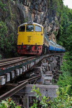 Thai-Burma Railway, Kanchanaburi, Thailand by Nobythai, via Flickr