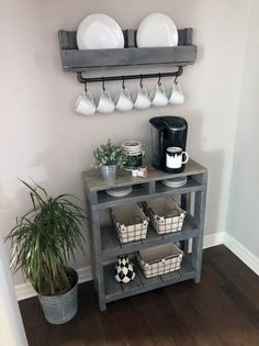 The best way to build your own Coffee Counter at Work, these ways will blow your mind Coffee Nook, Coffee Bar Home, Home Coffee Stations, Coffee Coffee, Coffee Bar Ideas, Office Coffee Station, Coffee Beans, Coffe Corner, Diy Coffee Shelf