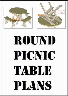 Round picnic table plans, free PDF download, includes how-to step-by-step instructions, drawings, measurements, shopping list and cutting list. Round Picnic Table, Diy Picnic Table, Picnic Table Plans, Full Body Gym Workout, Step By Step Instructions, Gym Workouts, Wood Projects, Pdf, How To Plan