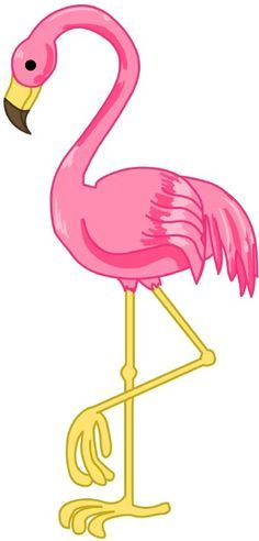 Pink Flamingo Cartoon Clipart - Clipart Suggest Flamingo Clip Art, Flamingo Craft, Flamingo Birthday, Flamingo Party, Thema Hawaii, Jungle Party, Pink Bird, Partys, Digi Stamps