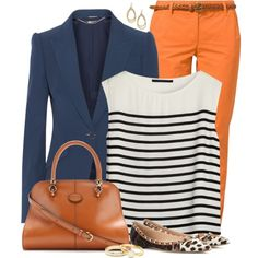 A fashion look from March 2014 featuring loose tank top, blue blazer y chinos pants. Browse and shop related looks.
