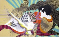 Christine Streuli, Hitzkopf, 2007. Acryl und Lack auf Baumwolle, 250 x 400 cm