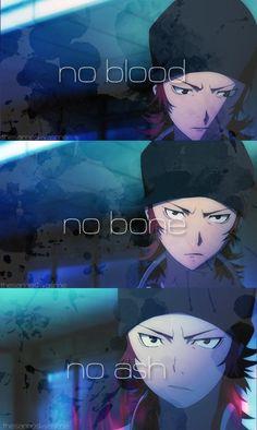 No, blood, no bone, no ash...