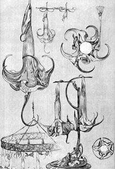 Fin de Siecle - Alphonse Mucha design sketches