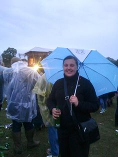 Sales Executive at Intercontinental Hotels Group, Liz Devaney, takes the SilverDoor umbrella to Knebworth, UK