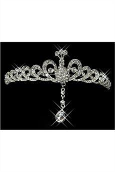 Moda Tiara de Novia Aleación con Diamantes de Imitación