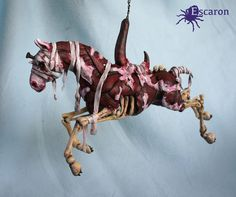 """Inspired by """"Happy Carousel"""" in Silent Hill 3 here is now fiiiinally the finished sculpture of my merry-go-round-horror-horse. Took its time alright. His name is Bob, and he likes to hang around. T..."""