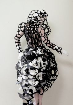 black and white fashion accessories made from paper - Google Search