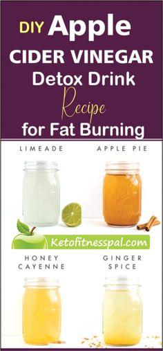 DIY ACV Detox Drink Recipes for Fat Burning and Detoxification Vinegar Detox Drink, Apple Cider Vinegar Detox, Fat Burning Smoothies, Fat Burning Detox Drinks, Detox Juice Recipes, Drink Recipes, Cider Vinegar Weightloss, Kombucha Recipe, Acv