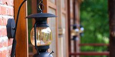 lantern outside the house at a location serviced by Arwood Waste of Rochester