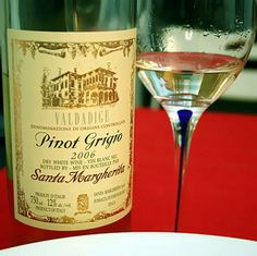 Santa Margarita Pinot Grigio... one thing I will miss about living in England is inexpensive Italian wine (it's about 25 dollars in the US vs. 7 GBP {11 dollars} here in England)