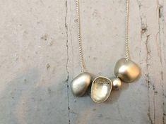 COCO - bib - six - metal - bowls - river stones - eco friendly - necklace - natural - organic - pendant - metalwork - hand made - collar-mai