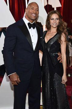 Dwayne Johnson and Lauren Hashian...