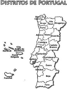 Mapa De Portugal Continental Completo.As 11 Melhores Imagens Em Portugal Mapa De 2019 Portugal