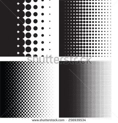 Halftone Dots Pattern Gradient Set In Vector Format - 256939534 ...
