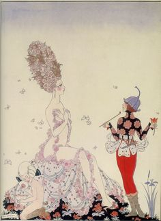 Art Deco Master illustrator George Barbier's fashion illustration