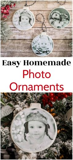 These easy homemade photo ornaments are the perfect way to showcase your favorite memories on your Christmas tree. These are super simple to make in just a few minutes with a few basic supplies. They are my favorite DIY personalized Christmas ornaments. Diy Photo Ornaments, Photo Christmas Ornaments, Christmas Tree Ornaments, Christmas Diy, Diy Gift Ideas For Christmas, Homemade Christmas Tree Decorations, Halloween Decorations, Lularoe Christmas, Ornaments Ideas