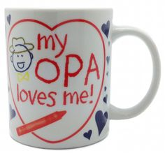 Gift From Opa Ceramic Dutch Coffee Mug