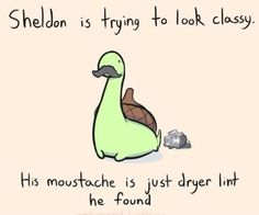 Sheldon the tiny dinosaur who thinks he is a turtle is trying to look classy. - All these Sheldon drawings are ridiculously cute! Cute Comics, Funny Comics, Turtle Dinosaur, Dinosaur Quotes, Dinosaur Sketch, Dinosaur Dinosaur, Funny Cute, The Funny, That's Hilarious