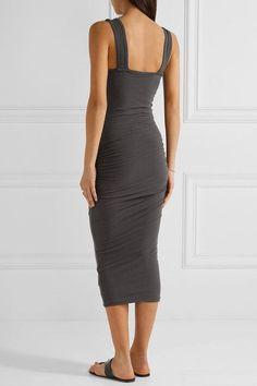 James Perse Woman Cotton-terry Midi Dress Charcoal Size 3 James Perse Y3pli63