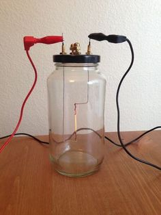 Homemade Lightbulb: 13 Steps (with Pictures) Electronic Circuit Projects, Electrical Projects, Electrical Wiring, Science Projects For Kids, Diy Projects To Try, Physics Projects, School Projects, Diy Electronics, Electronics Projects