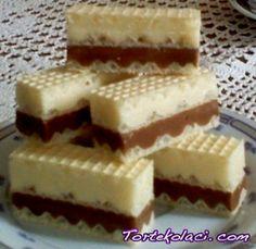 Kinder oblanda-a Serbian sweet translated Gourmet Recipes, Sweet Recipes, Baking Recipes, Cake Recipes, Dessert Recipes, Torte Recepti, Kolaci I Torte, Bosnian Recipes, Croatian Recipes