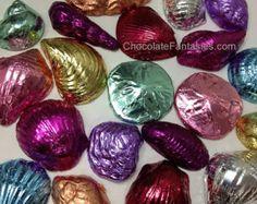 Belgian Chocolate Seashells Charm Bracelet . by GiraffesKiss