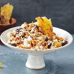 Persischer Safranreis mit Möhren und Mandeln Rezept   Küchengötter