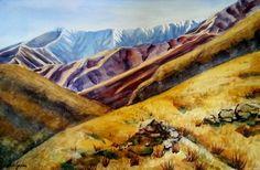 Motatapu Watercolour by Jane Guise Watercolour Paintings, Watercolor, My Arts, Artist, Artwork, Pen And Wash, Watercolor Paintings, Watercolor Painting, Work Of Art