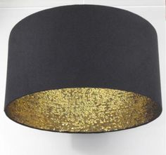 Lampenschirm 45 cm black & gold sequins