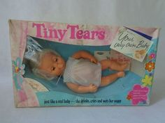 Vintage Tiny Tears Palitoy Doll Eye 1970 s 1980 s 16 Dummy Dress Rare Box 1980s Childhood, My Childhood Memories, Childhood Images, Memory Books, My Memory, Tiny Tears Doll, Baby Memories, Retro Toys, Vintage Dolls