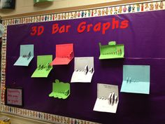 3D Bar graphs II. School Stuff, Back To School, Math School, Bar Graphs, Classroom, 3d, Education, Class Room, Learning