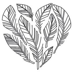 Feather Heart | Urban Threads: Unique and Awesome Embroidery Designs