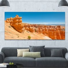 """DesignArt 'Beautiful Bryce Canyon' Photographic Print on Wrapped Canvas Size: 28"""" H x 60"""" W x 1.5"""" D"""