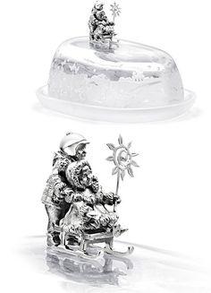 Эксклюзивная масленка в дорогом исполнении из серебра