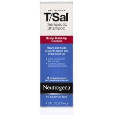 Neutrogena T/Sal Shampoo, Therapeutic , Scalp Build-Up Control, Maximum Strength