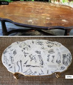 DIY Decoupage Coffee Table