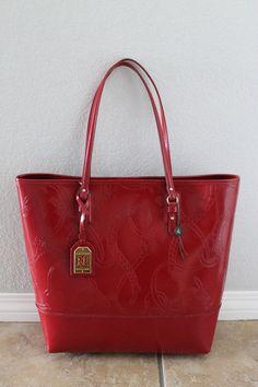 152c39c05f4 Ralph Lauren Belmar Vermillion Red Leather Shopper EQUESTRIAN TOTE Bag.  Bolsos De CueroCuero RojoBolsa ...