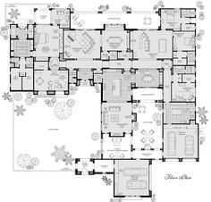 """Crazy floorplan but with removing the double living areas it's pretty nice.look at that master """"zone"""".great bathroom, etc. Every bedroom has it's own bathroom too. The Plan, How To Plan, Dream Home Design, My Dream Home, House Design, Dream House Plans, House Floor Plans, Building Plans, Building A House"""