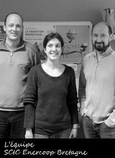 L'équipe de la coopérative Enercoop Bretagne fonctionne à l'énergie verte