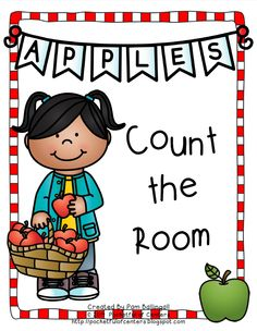 Count the Room - Apples Preschool Math, Teaching Kindergarten, Kindergarten Apples, Teaching Ideas, Autumn Activities, Math Activities, Math Night, First Year Teaching, Apple Unit
