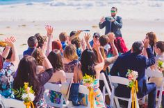 Guests at a Wrightsville Beach wedding.