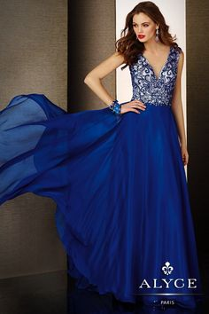 Evening Dresses<BR>Ball Dresses by Black Label for Alyce<BR>5629<BR>Look Chic!