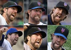The many faces of Mets knuckleballer R.A. Dickey