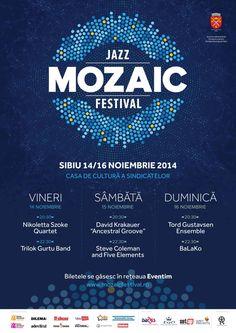 Cu un line-up de doar șase trupe, Mozaic Jazz Festival va oferi publicului participant o atmosferă jazz-istică completă. În încercarea de a asigura un mozaic incitant de trupe și artiști, cel mai tânăr festival de jazz din Sibiu, își îndreaptă atenția atât pe artiști internaționali consacrați cât și pe proiecte inedite, voci extraordinare, instrumentiști virtuoși…
