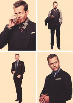 "Harvey Reginald Specter <3 (Parece que se cree un poco Don Draper en esta foto... pero ""es vale"")"